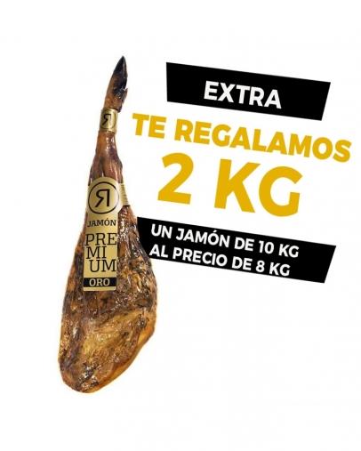 JAMÓN RIVAS ETIQUETA ORO +3 AÑOS DE CURACIÓN (+2KG DE REGALO)