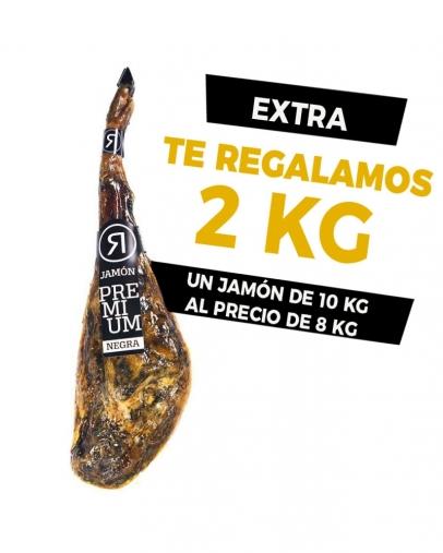 JAMÓN RIVAS ETIQUETA NEGRA +3 AÑOS DE CURACIÓN (+2KG DE REGALO)